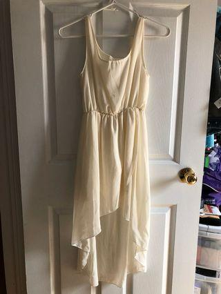 Cream high low dress