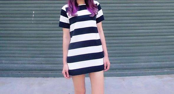 🚚 Preloved Striped Dress