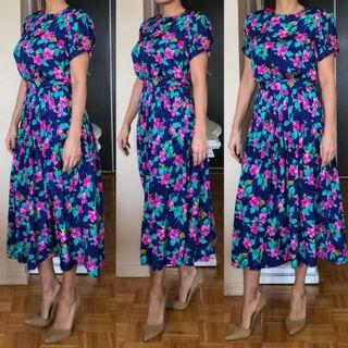 Vintage Talbot Flower printed dress