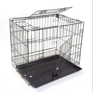 #catcage #cage #sangkar #sangkarkucing #threelevel #3level #3tingkat  - 60cm(L) x 42cm(W) x 92cm(H) - Long Lasting Iron - 2 Front Doors - Tray Provided - Suitable for boarding and kittens - With 4 Black/White Wheels *subject to availability