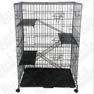 """3 Level Cat Cage (Medium) Wrought Iron 30""""L x 21""""W x"""