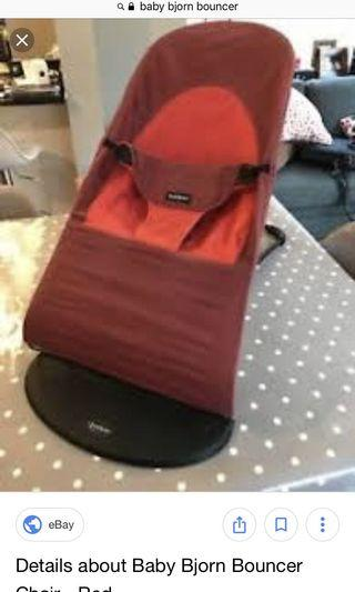 🚚 BabyBjorn red Color natural bouncer