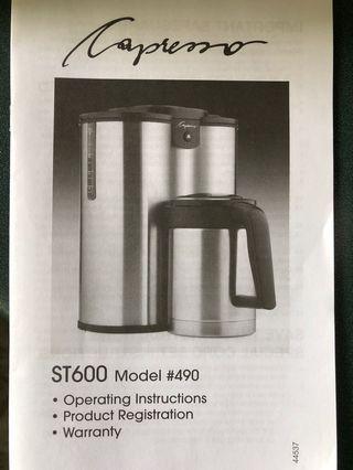 Capresso Coffee Maker (10 Cups)