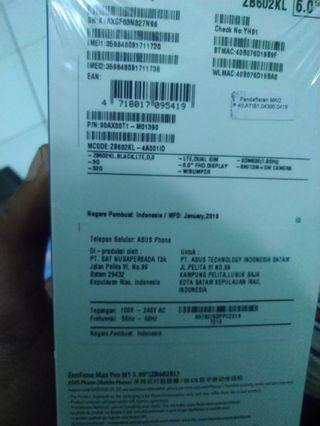 Asus Zenfone max pro M1 3gb/32