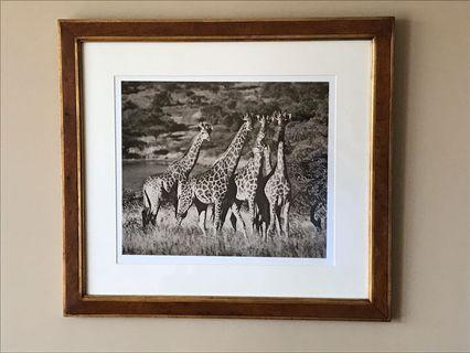 2 excellent quality wooden frames
