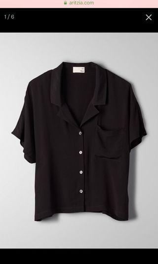 Aritzia black blouse