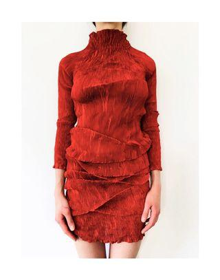 Gofre Party Red Dress