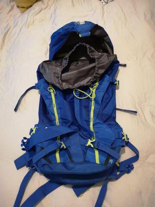 Blue backpack 45 litres