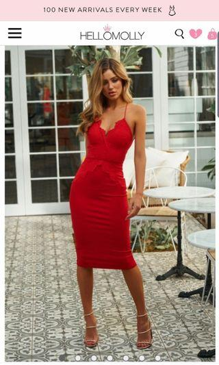 Hello Molly dress red