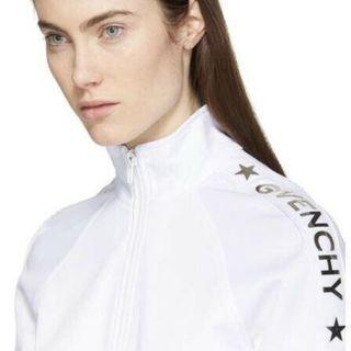 Givenchy White & Silver Tracksuit Jacket