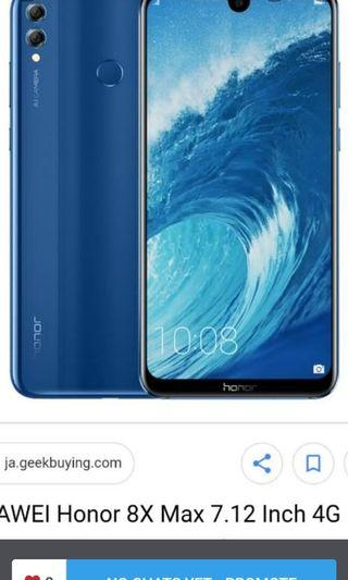 Goggle Enable Huawei Honor 8X MAX 7.12 inch for sale with free case and tempered glass Protector worth$50 !