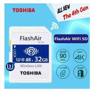 Toshiba 32GB Micro SD Card Flash Air 4th Generation Wireless LAN Embedded SDXC Memory Card U3 Class10 Camera Dedicate WIFI SONY CANON NIKON OLYMPUS FUJIFILM PENTAX
