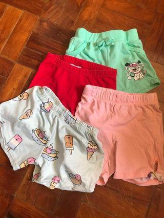 Shorts 4 pcs selling for lot assorted