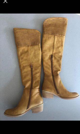 Mustard tan boots