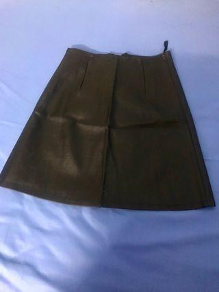 Leather-like Skirt #Carouselland