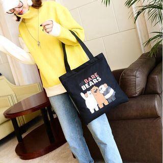 [ Shoulder Bag ] We Bare Bears Canvas Shopping Shoulder Bag