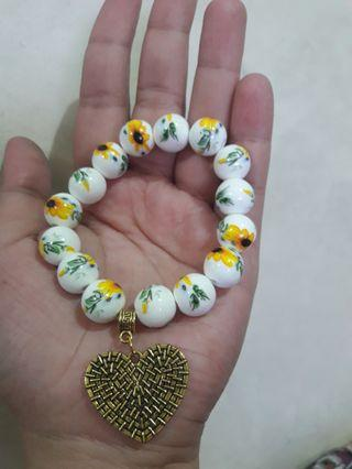 Beads bracelet accessories souvenirs giveaways charms sunflower