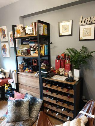 D-Bodhi Journey East book and wine shelf