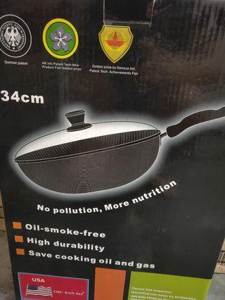 Oil smoke free USA non stick wok