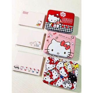 🚚 正版授權 日本 三麗鷗 HELLO KITTY 凱蒂貓 紙膠帶便條本組 紙膠帶 便條紙 收納盒 置物盒 桌上盒