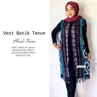 Vest batik tenun