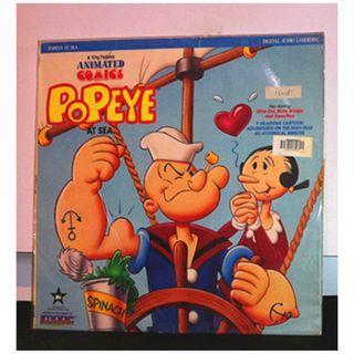 美國絕版雷射影碟美產卡通動畫電影 LD (大力水手動畫電影版:在海裡 Popeye the Sailor :Popeye At The Sea---Max Fleischer) cartoon animation USA laserdisc