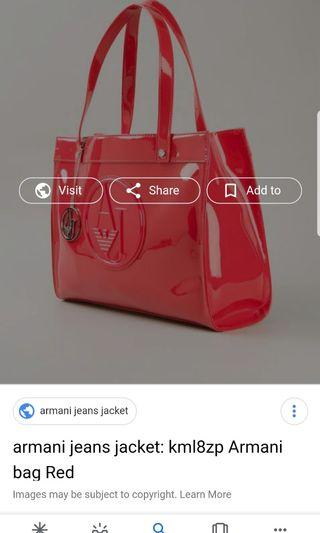 Authentic Armani bag