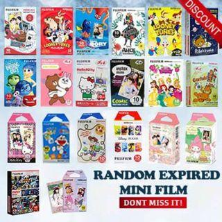 CLEARANCE FUJIFILM FILM INSTAX FILMS DESIGN COLOUR CARTOON EXPIRED RANDOM