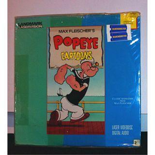 美國絕版雷射影碟美產卡通動畫電影 LD (大力水手動畫電視版:精選 Popeye the Sailor :Max Fleischer's Popeye Cartoons---Max Fleischer) cartoon animation USA laserdisc