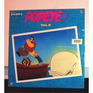 日本絕版雷射影碟美產卡通動畫電影 LD (大力水手動畫第二輯電視版:第四集精選 Popeye the Sailor : Popeye II Vol.4---Max Fleischer) cartoon animation Japan laserdisc
