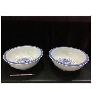 Big Chinese porcelain bowls 26cm
