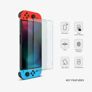 Nintendo Switch Screen Protector – Premium Tempered Glass // Game Protective Case Casing Bag New