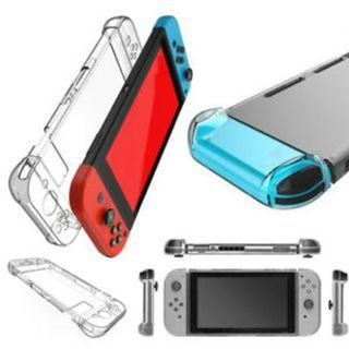 Nintendo Switch Clear Crystal Case Hard Cover Bumper Shock Scratch Guard