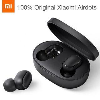 [ORIGINAL] Redmi Airdots Bluetooth Earbuds Stereo Xiaomi #MGAG101