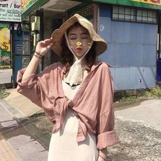 **全新轉賣 2019新款 韓版 夏装 長款 吊带 連衣裙 渡假風 杏色 長洋裝 連身裙 小姐姐洋裝