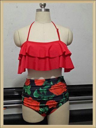 紅玫瑰 比基尼 泳衣 Red Rose bikini/swimsuit