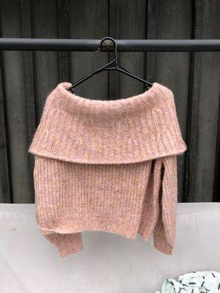 Off the shoulder knit
