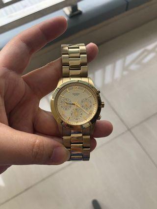 Guess Gold Woman Watch / jam tangan guess