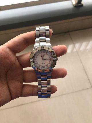 Guess Silver Woman Watch / jam tangan guess