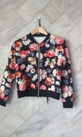 3d floràl bomber jacket