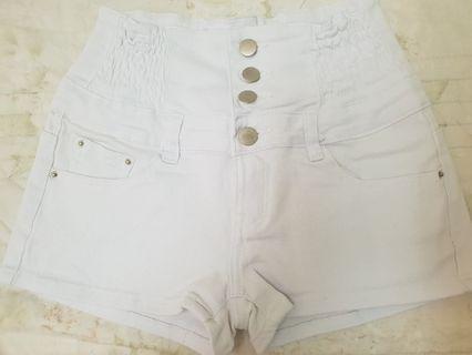 高腰伸縮短褲