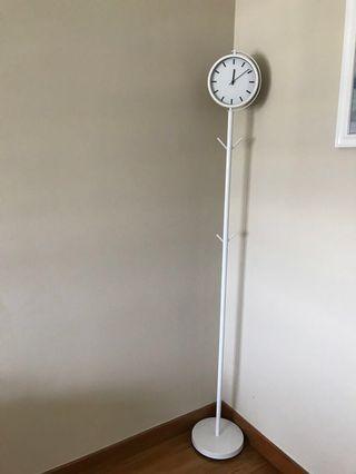 Vhive Standing clock cum clothes hanger