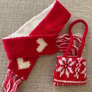 Doll scarf + bag set
