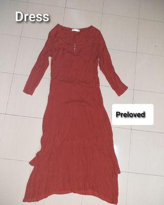 DRESS WINE RED PRELOVED