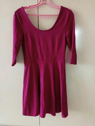 Deep Pink Comfortable dress