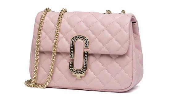 夢幻粉色 氣質 小包 鍊條包