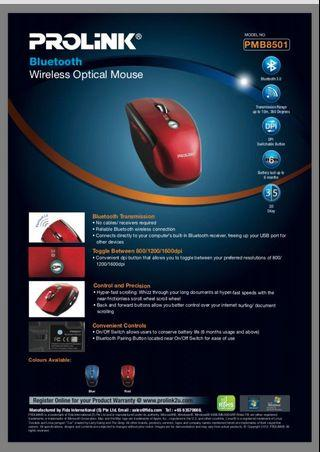 Prolink Bluetooth Wireless Mouse PMB8501
