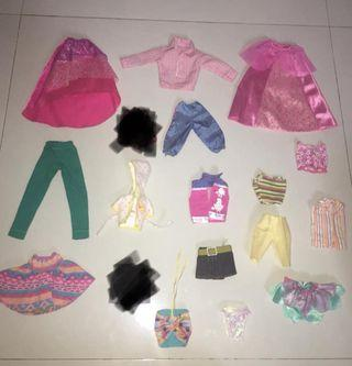take all barbie clothes