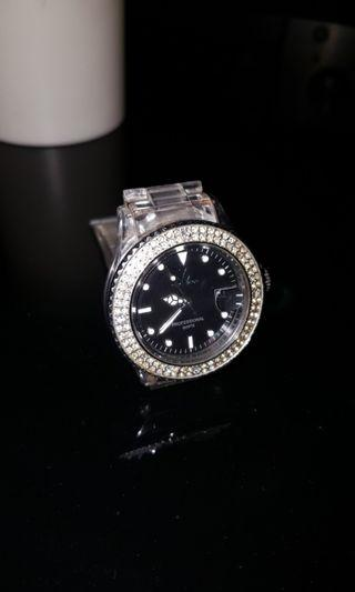 Toy Watch Black Mother of Pearl Face Watch Authentic