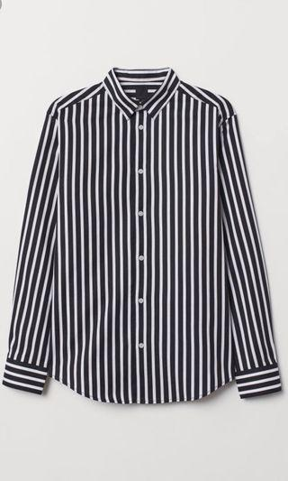 🚚 Striped Shirt , suitable for work